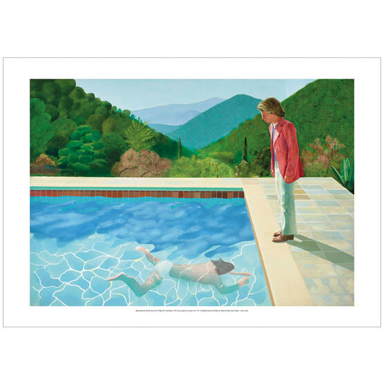 David Hockney Portrait of an Artist Pool with Two Figures (poster)