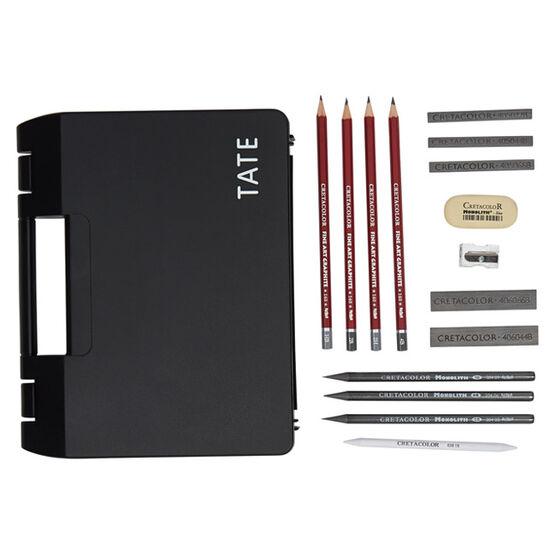 Sketching art box set (15 pieces) black