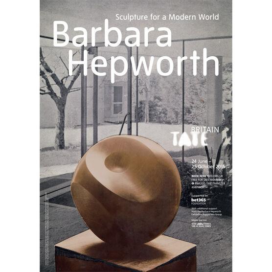 Barbara Hepworth exhibition poster