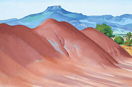 O'Keeffe: Pedernal with Red Hills (Red Hills with the Pedernal)