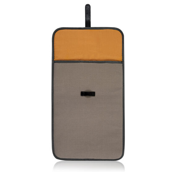 Grey/Orange Ally Capellino laptop sleeve
