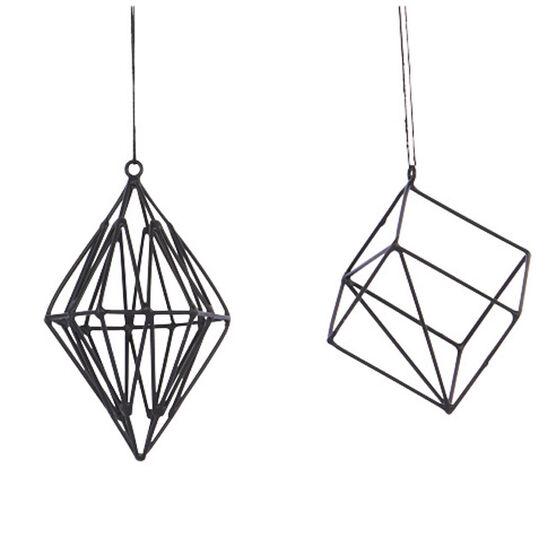 Black geometric shapes decoration