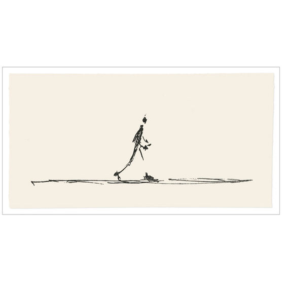 Alberto Giacometti Drawing of a Walking Man (screen-print folio)