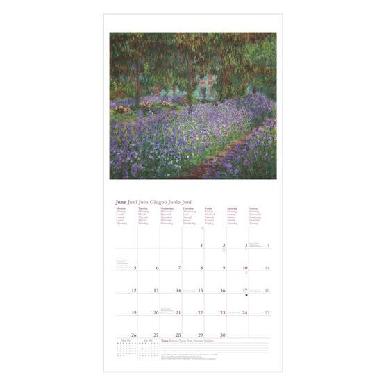 Monet wall calendar 2017