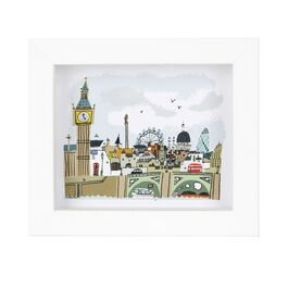 London Calls Framed Print