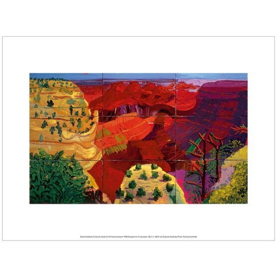 David Hockney The Grand Canyon (exhibition print)