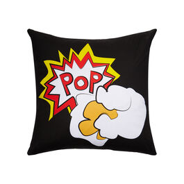 World Goes Pop popcorn cushion cover