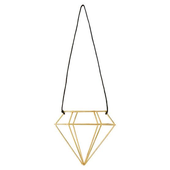 Gold wire diamond tree ornament