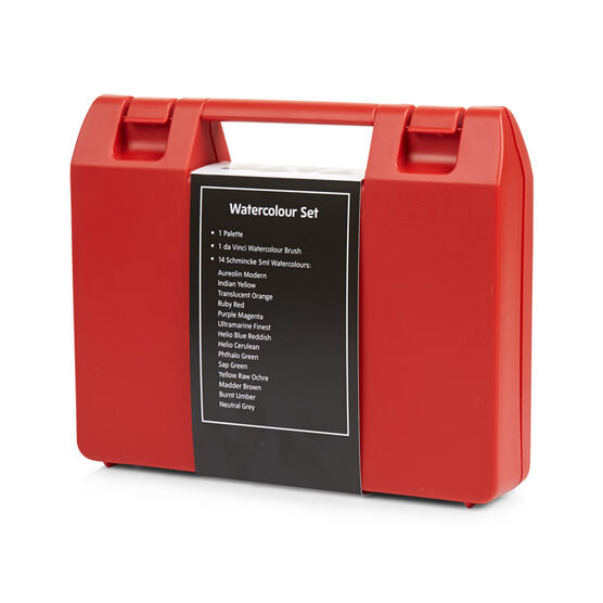 Watercolour paint art box set (14) red