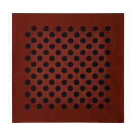 Margaret Howell rust polka dot scarf