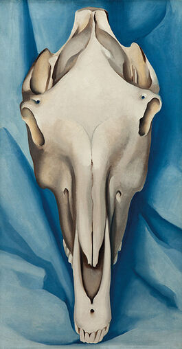 O'Keeffe: Horse's Skull on Blue