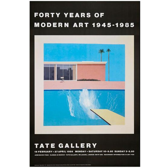 David Hockney: A Bigger Splash vintage poster
