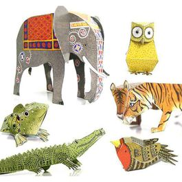 Alice Melvin''s Cut-out and Make Menagerie of Animals