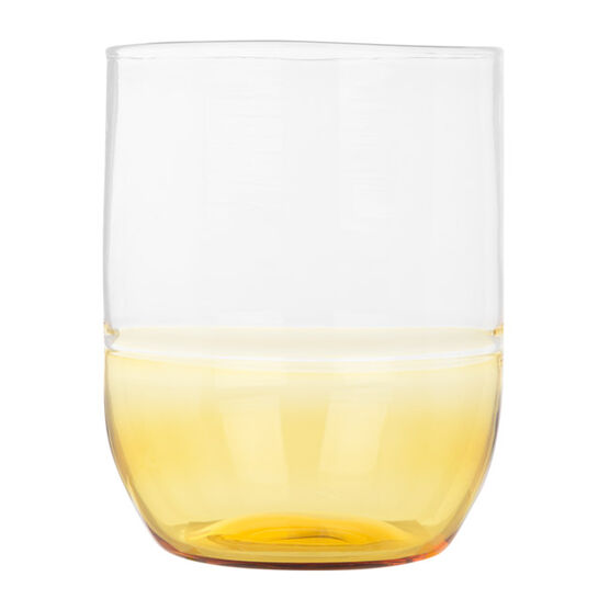 Glass tumbler yellow