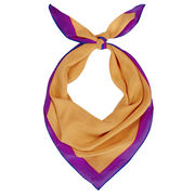 Silk scarf with orange centre