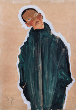 Egon Schiele: Boy in Green Coat