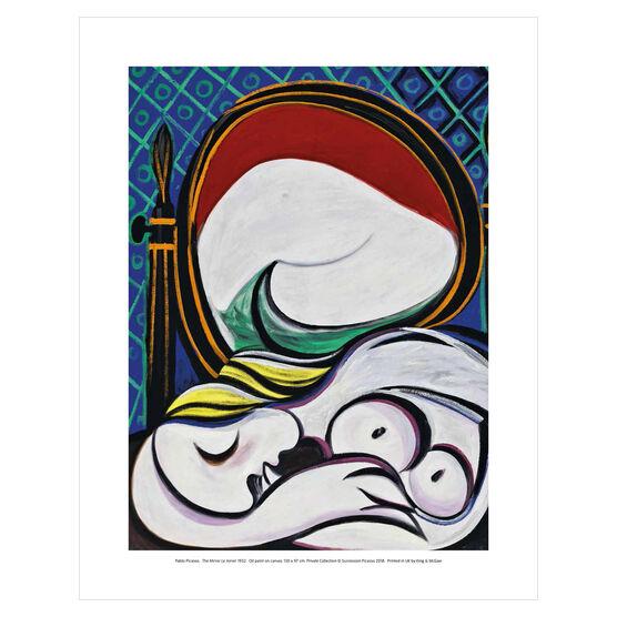 Pablo Picasso: The Mirror mini print