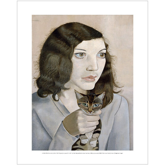 Lucian Freud: Girl with a Kitten mini print