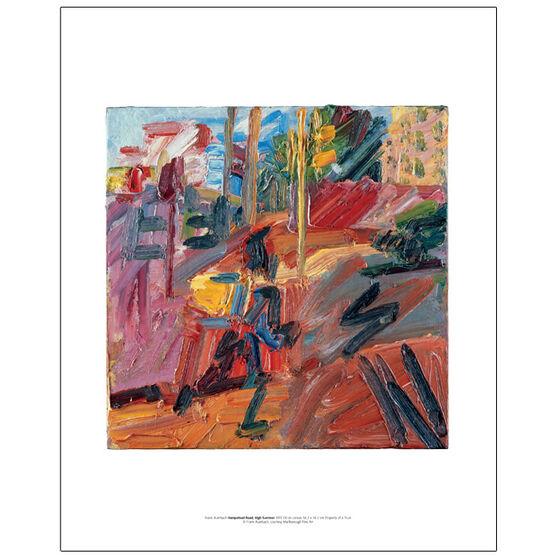Frank Auerbach Hampstead Road, High Summer 2010 (mini print)
