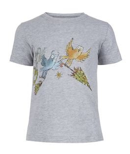 Three Little Owls grey t-shirt