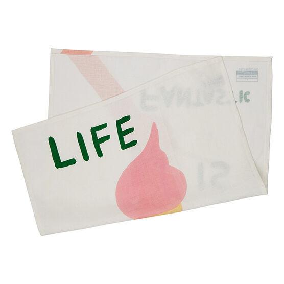 David Shrigley Life is Fantastic tea towel