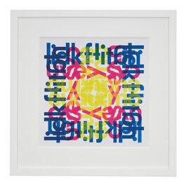 Hansjörg Mayer alphabet square (framed print)
