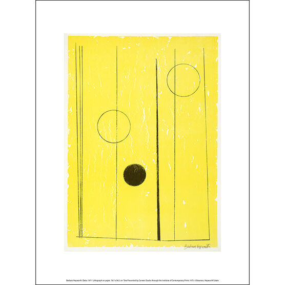 Barbara Hepworth Delos (exhibition print)