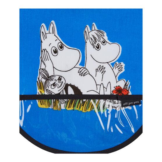 Blue Moomin bib