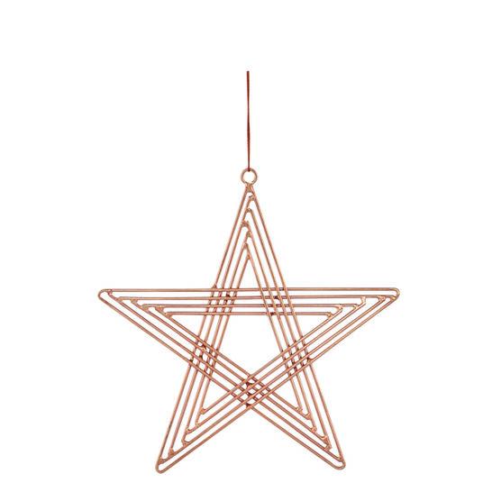 Copper star decoration