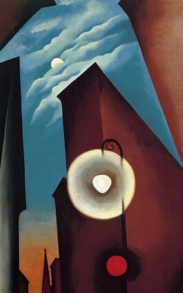 O'Keeffe: New York Street with Moon