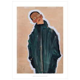 Egon Schiele: Boy in Green Coat poster