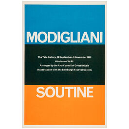 Modigliani / Soutine (Tate Vintage Poster Reproduction)