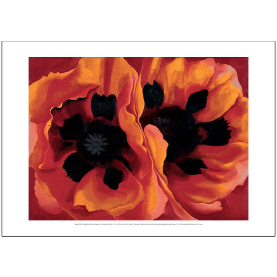 Georgia O'Keeffe Oriental Poppies (50 x 70 poster)