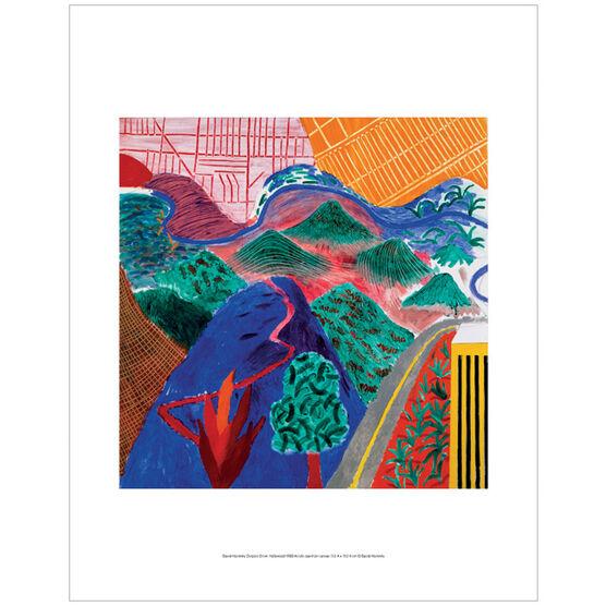 David Hockney Outpost Drive, Hollywood (mini print)