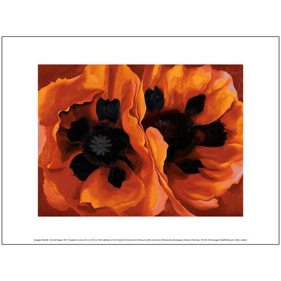 Georgia O'Keeffe Oriental Poppies (exhibition print)