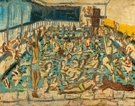 Leon Kossoff: Children's Swimming Pool