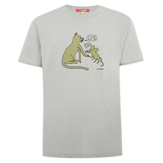 David Shrigley Cat and Mouse T-shirt
