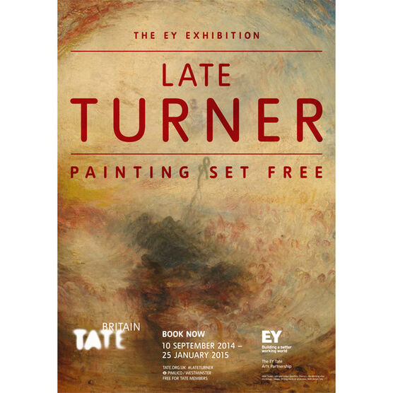The EY Exhibition: Late Turner (exhibition poster)