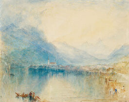 Turner: Arth, on the Lake of Zug, Early Morning, Sample Study (custom print)