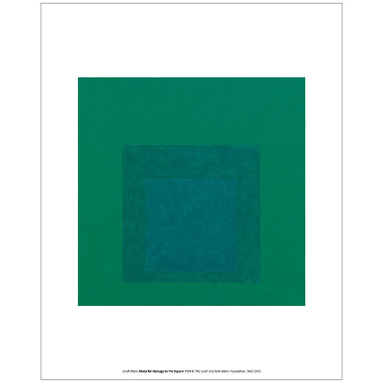 Albers Study for Homage to the Square (unframed print)