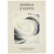 Georgia O'Keeffe Abstract White Rose Notecard Set
