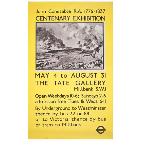Constable (Tate vintage poster reproduction)