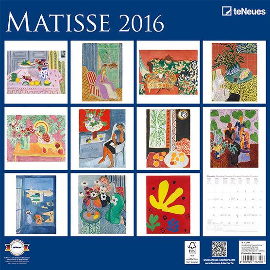 Matisse Calendar 2016