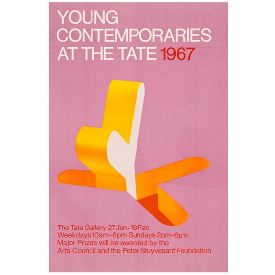 Young Contemporaries (Tate vintage poster reproduction)