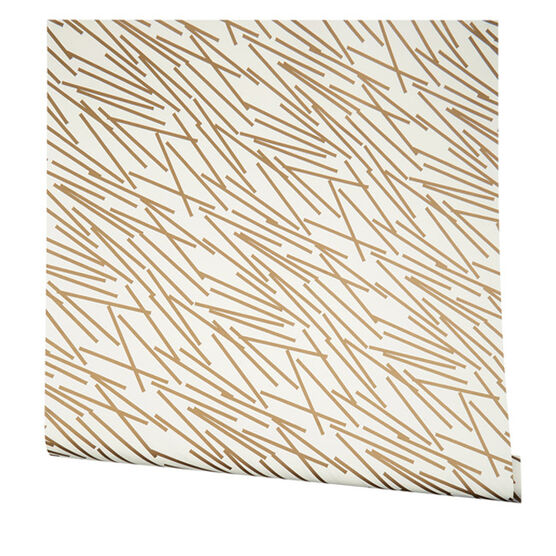 Gold line print wrapping paper