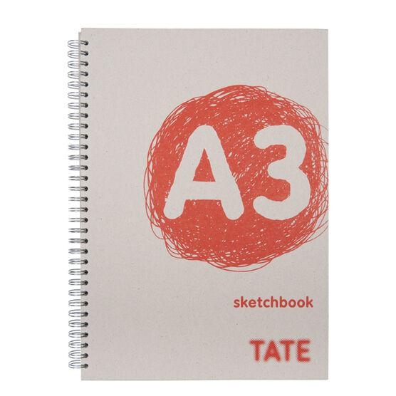 Red A3 hardback sketchbook