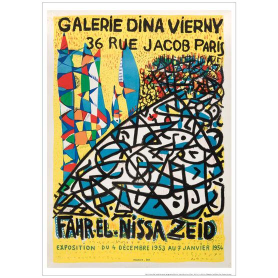 Fahr El Nissa Zeid 1954 (exhibition poster)