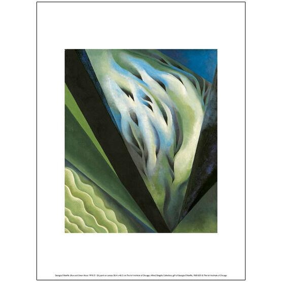 Georgia O'Keeffe Blue and Green Music (exhibition print)