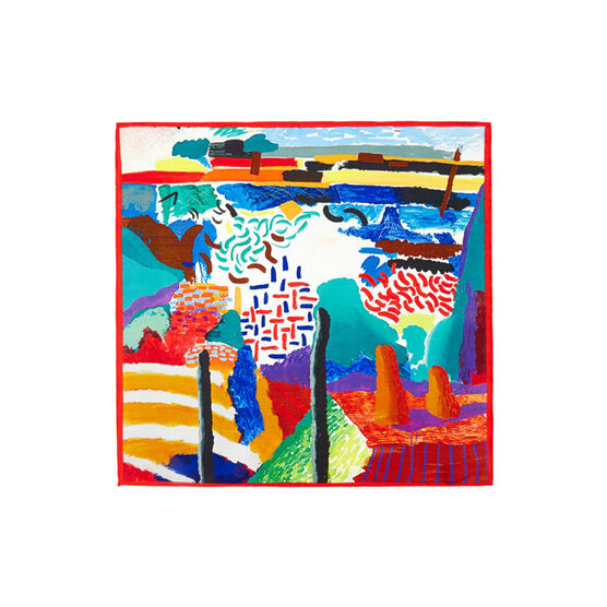 Hockney Canyon Painting pocket square