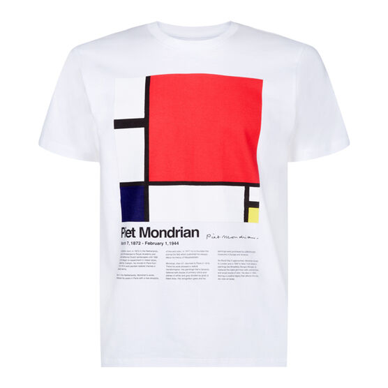 Mondrian white t-shirt